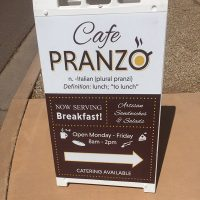 cafe pranzo sandwich sign